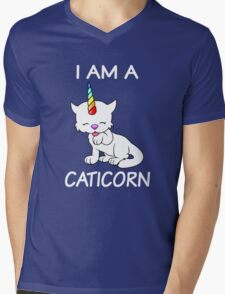 I Am A Caticorn Mens V-Neck T-Shirt
