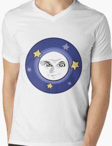 Bad Moon and Stars Rising Mens V-Neck T-Shirt