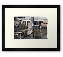 Death at airport Framed Print