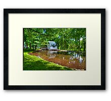 Stream and Bridge Framed Print