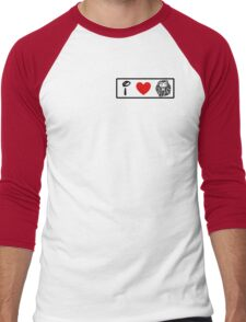 I Heart The Lion King (Classic Logo) Men's Baseball ¾ T-Shirt