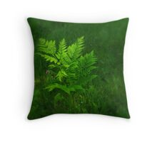 Lonely Fern Throw Pillow