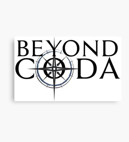 Beyond Coda Dark Logo Canvas Print