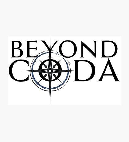 Beyond Coda Dark Logo Photographic Print