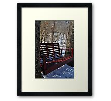 Red Bench Swing Framed Print