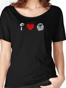 I Heart The Lion King (Classic Logo) (Inverted) Women's Relaxed Fit T-Shirt