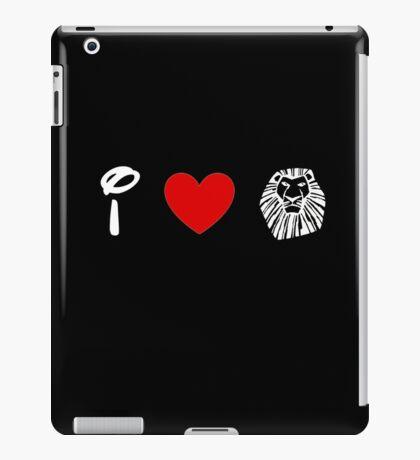 I Heart The Lion King (Classic Logo) (Inverted) iPad Case/Skin