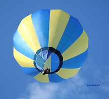 Balloon, Sunny Yellow and Blue by Linda Jackson