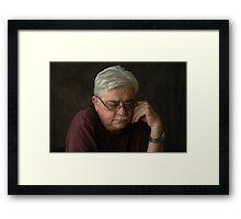 Portrait of a Teacher Framed Print
