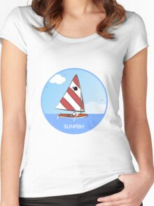 Sunfish Sailboat Women's Fitted Scoop T-Shirt