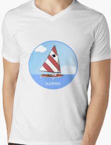 Sunfish Sailboat Mens V-Neck T-Shirt