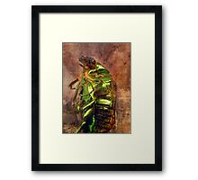 ©NS Metallic Green IA Framed Print