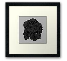 heartless skulls Framed Print