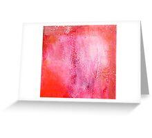 Red Patina #1 Greeting Card