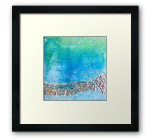 Blue Patina Framed Print