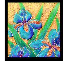 Poster, Print, 'Blue Iris On Crinkled Silk' Photographic Print