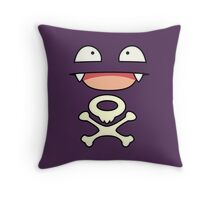 Koffing face Throw Pillow