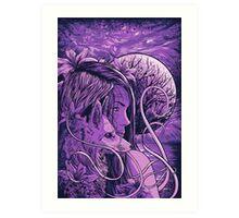 purple fox Art Print