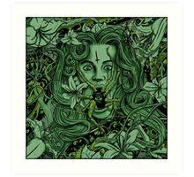 Green Arachnophobia Art Print