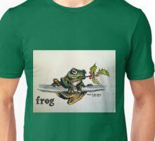 Christmas frog. Elizabeth Moore Golding© Unisex T-Shirt