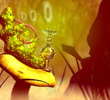 "Hookah-smoking caterpillar from ""Alice in Wonderland"" by Carol and Mike Werner"