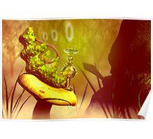 "Hookah-smoking caterpillar from ""Alice in Wonderland"" Poster"