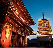 Asakusa Temple: Tokyo by Lydia Griffiths