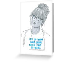 Zooey Deschanel Greeting Card