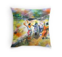 The Painters Throw Pillow