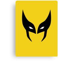 Wolverine Mask Minimalist Canvas Print