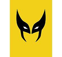 Wolverine Mask Minimalist Photographic Print