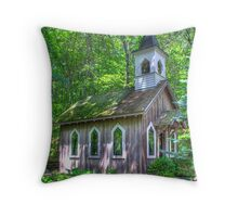 Little Chapel in the Woods Throw Pillow