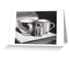 Ink and Cups Greeting Card