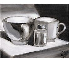 Ink and Cups Photographic Print