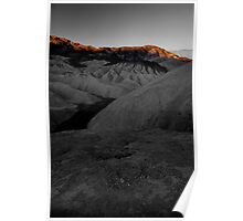 Morning Light On Zabriskie Point, Death Valley CA select color Poster