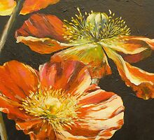 Poppies Too (detail) by Elizabeth Moore Golding