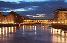 Dusk falls in Florence by Sharon Kavanagh