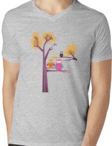 Owls 3 Mens V-Neck T-Shirt
