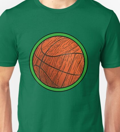 PROUD Celtics FAN!  Woodgrain Basketball Unisex T-Shirt