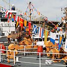 The Wonderful Flags on Boats by paintingsheep