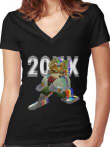 Fox 20XX Women's Fitted V-Neck T-Shirt