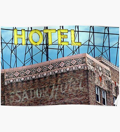 Urban Hotel Architecture Poster