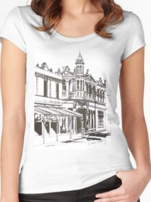 Kensington, Melbourne Victoria.  Bellair St ©  Women's Fitted Scoop T-Shirt