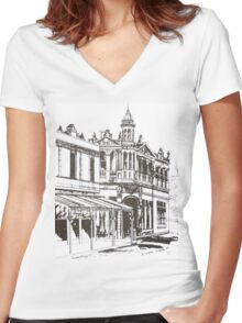 Kensington, Melbourne Victoria.  Bellair St ©  Women's Fitted V-Neck T-Shirt