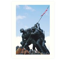 Iwo Jima War Memorial Art Print