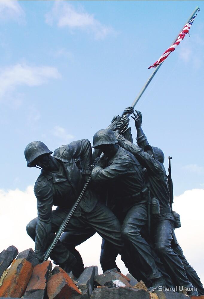Iwo Jima War Memorial by Sheryl Unwin