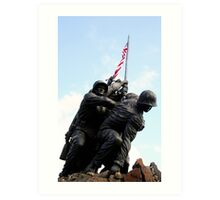Iwo Jima War Memorial II Art Print