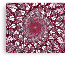 Pink Wire Spiral Canvas Print