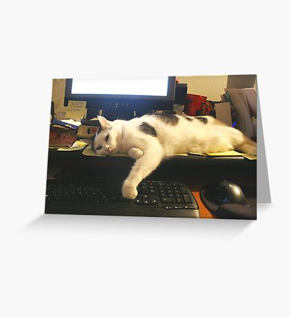 I'm Too Tired To Finish My Email!  Greeting Card