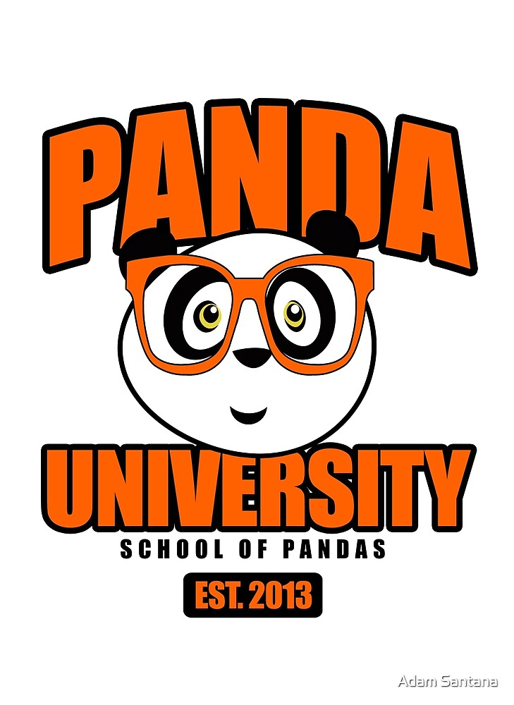 Panda University - Orange by Adamzworld